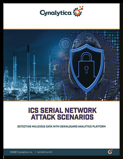 ICS Serial Network Attack Scenarios Detecting Malicious Data