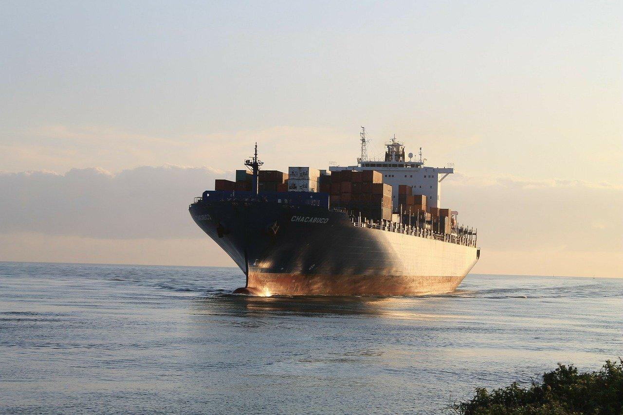 cargo vessel at sea